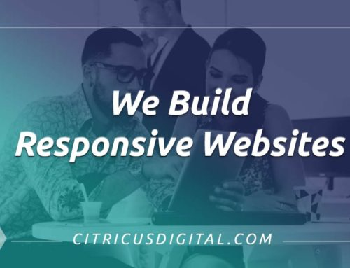 We build responsive sites